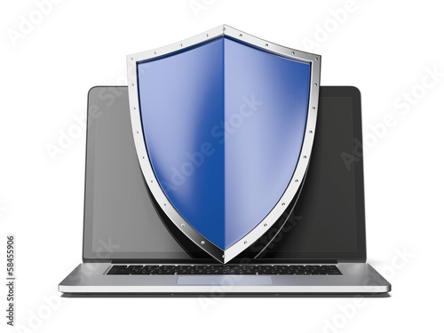 laptop with shield