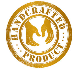handcrafted product stamp