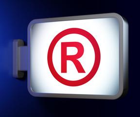 Law concept: Registered on billboard background