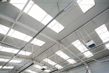 Industrial hall roof