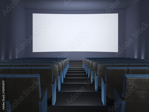 Inside of the cinema.