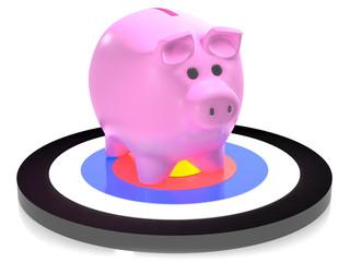 Piggy on target
