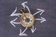 Leinwandbild Motiv compass, travel concept