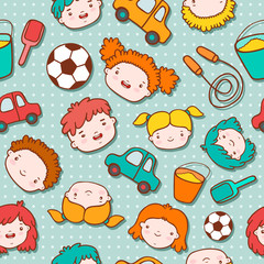 Seamless doodle kids background