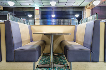 vintage table of classic diner