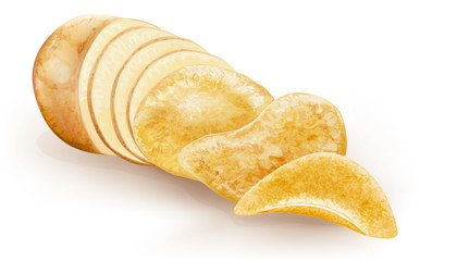 potato cut and chips