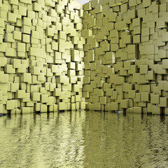 Cube room - 3d Render