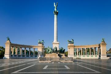Heroes' Square, Millennium Monument, in Budapest