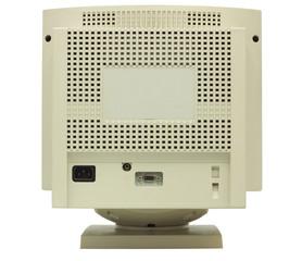 Rear of CRT monitor