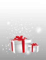 pacchi regalo con fiocco rosso