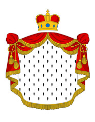 Red royal mantle
