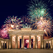 Leinwanddruck Bild - Feuerwerk am Brandenburger Tor in Berlin
