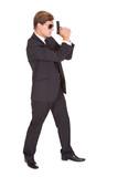 Male Secret Agent Holding Gun