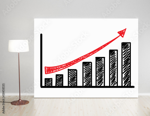 poster with graph