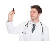 Doctor Holding Marker