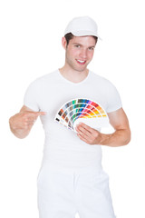 Young Man Holding Color Palette