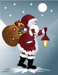 Der Weihnachtsmann auf seinen Weg