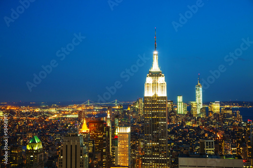 New York City cityscape in the night