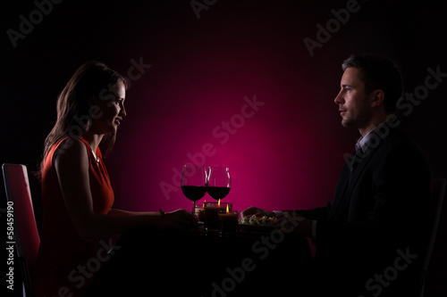 Couple Having Dinner - 58459190