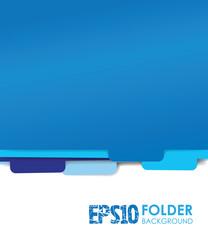 blue paper folder files