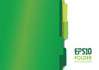 green paper folder files