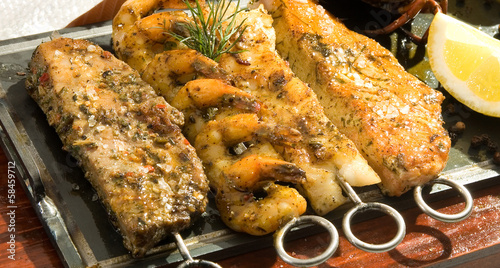 Grilled fish meat