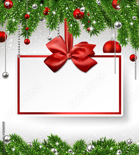 Christmas background with invitation card.