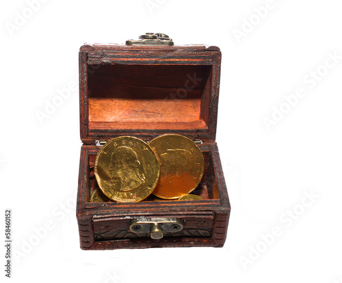 Treasure Box   isolated  on white background