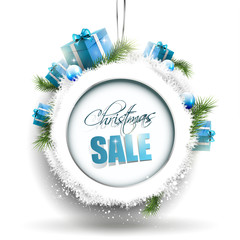 Christmas sale - vector background