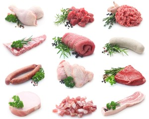 Collage Wurst und Fleisch