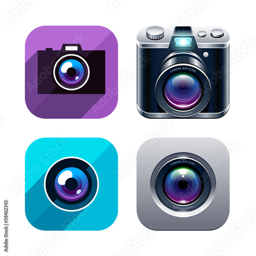 Photo app icons set