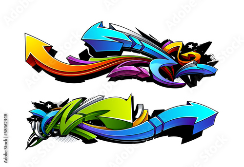 Graffiti arrows designs - 58462349