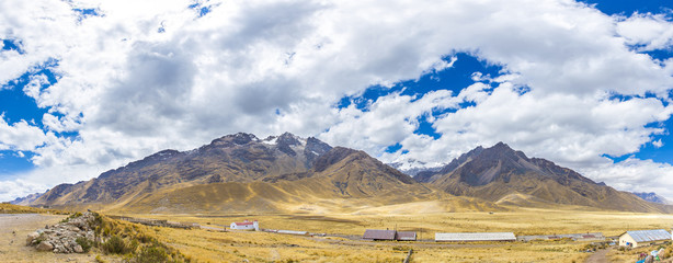 Panorama of Andes, Road Cusco- Puno, Peru,South America