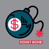 Money Bomb Dollar crisis concept illustration - 58464127