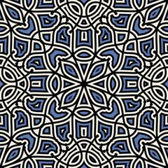 Damask seamless pattern, geometric ornament