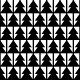 Black and white geometric seamless pattern