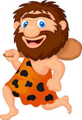 Funny caveman cartoon
