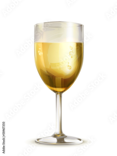 Glass of champagne illustration