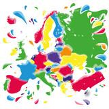 Flecken und Kleckse mit Europa