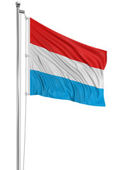 3D Luxembourg flag