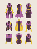 collection of woman coats and jackets