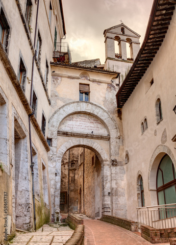 city gate in Spoleto, Italy