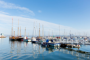 Brixham Devon marina with boats and yachts England Torbay UK