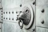 lion shaped door knocker horizontal