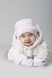 baby girl in winter clothes