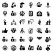 iconset business people black