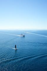 Strait of Bonifacio between Corsica and Sardinia,