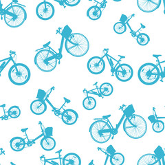 seamless blue bicycle bike vector