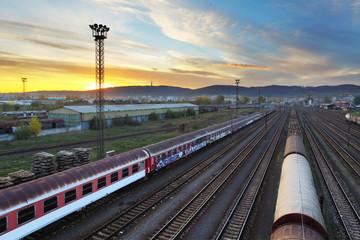 Train freight station - Cargo transportation