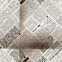 Imitation newspaper with folds